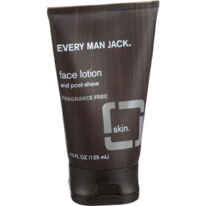 Every Man Jack Face Lotion & Post Shave - Fragrance Free - 4.2 Oz