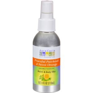Aura Cacia Room & Body Mist Spray - Patchouli Orange - 4 oz