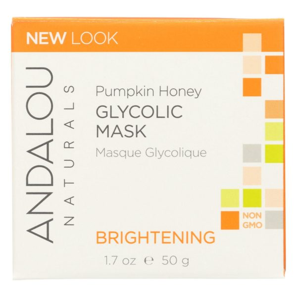 Andalou Naturals Glycolic Brightening Mask - Pumpkin Honey - 1.7 Fl Oz