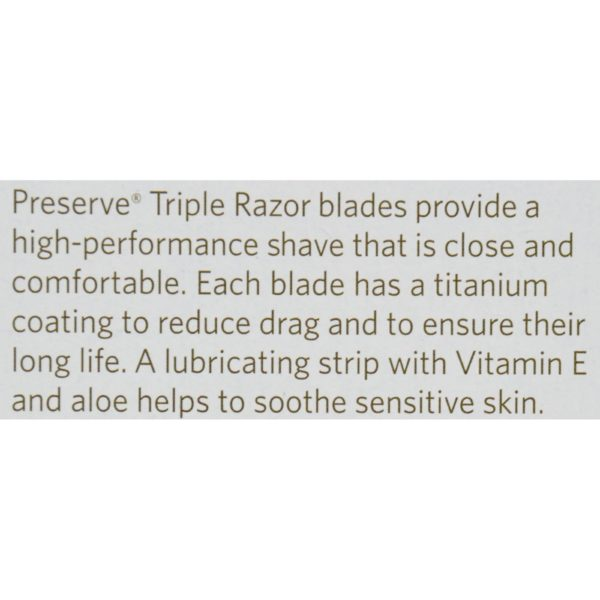 Preserve Triple Razor Blade Refills - 4 Packs - Case Of 6