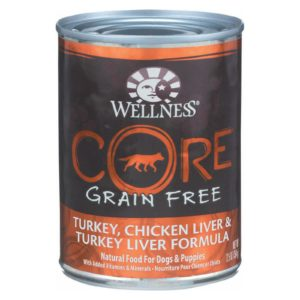 Wellness Dog Food Gain Free Turkey Chicken Liver 12.5 oz - Case Of 12