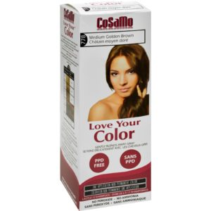 Hair Color - Cosamo - Non Permanent - Med Gold Brown - Love Your Color The GreenLine Market