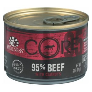 Wellness Pet Products Dog Food - Core Beef With Carrots Recipe - Case Of 24 - 6 Oz.