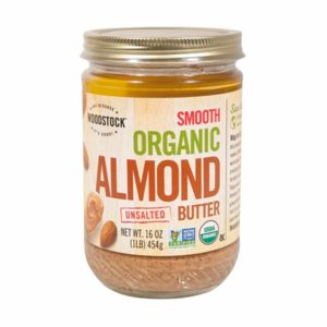 Woodstock Organic Almond Butter - Lightly Toasted - Unsalted - 16 Oz. Non GMO. The GreenLine Market