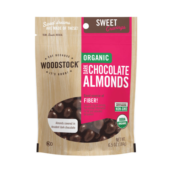 Woodstock Organic Dark Chocolate Almonds