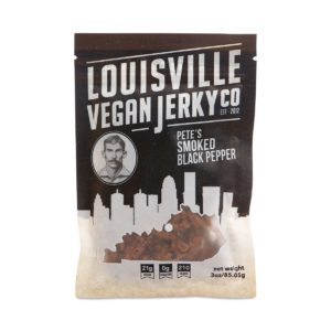 Louisville Vegan Jerky Co - Vegan Jerky - Black Pepper - Case Of 10 - 3 Oz