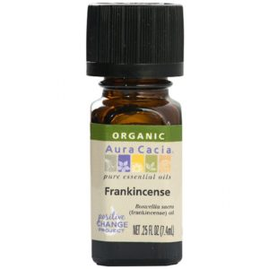 Aura Cacia Frankincense Essential Oil .5 Fl Oz. 100% pure. Only 1 ingredient. The GreenLine Market