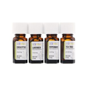 Aura Cacia Essential Oil - Discovery Kit - 4 bottles 0.25 fl oz each - The GreenLine Market