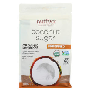 Nutiva Organic Coconut Sugar - Case Of 6. NonGMO, alternative to regular sugar. The GreenLine Market