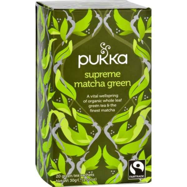 Pukka Organic Supreme Matcha Tea - Case Of 6. Ethical and Sustainable. The GreenLine Market