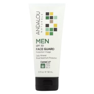 Andalou Men's Sunscreen Mineral Face Guard Spf 30