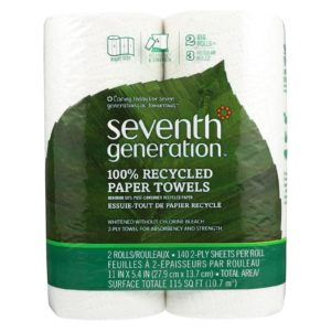 Seventh Generation Recycled Paper Towels - White - Case Of 12