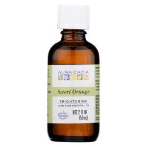 Aura Cacia Sweet Orange Brightening Essential Oil - 2 Oz. 100% pure. The GreenLine Market