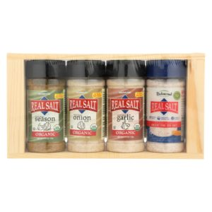 Redmond Real Organic Salt Seasoning Gift Set - 4 Pieces. Organic & Kosher. The GreenLine Market