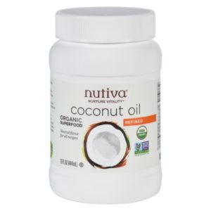 Nutiva Organic Coconut Oil Superfood - Refined - 15 Oz. Organic, NonGMO, Vegan. The GreenLine Market