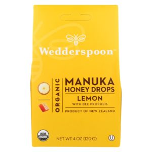 Wedderspoon Organic Manuka Honey Drops - Lemon - 4 oz. Pure and Natural. The GreenLine Market