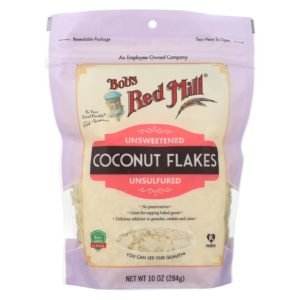 Bob's Red Mill Coconut Flakes - Case Of 4 - 10 Oz each. Kosher, vegan, paleo. The GreenLine Market
