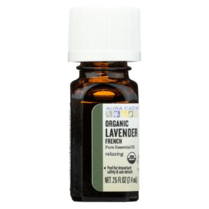 Aura Cacia Organic French Lavender Essential Oil. Certified USDA Organic. The GreenLine Market