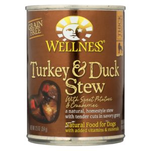 Wellness Dog Food - Turkey Duck Sweet Potato Cranberry - 12.5oz - Case Of 12