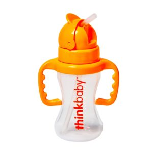 Thinkbaby Kids Bottle with Straw - Orange - 1 Cnt