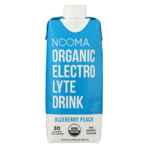 Nooma Organic Electrolyte Drink Blueberry Peach 16.9oz - Case Of 12