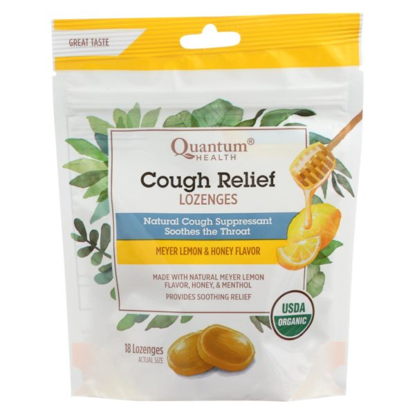 Quantum Organic Cough Lozenges - Lemon Honey - 18 Cnt