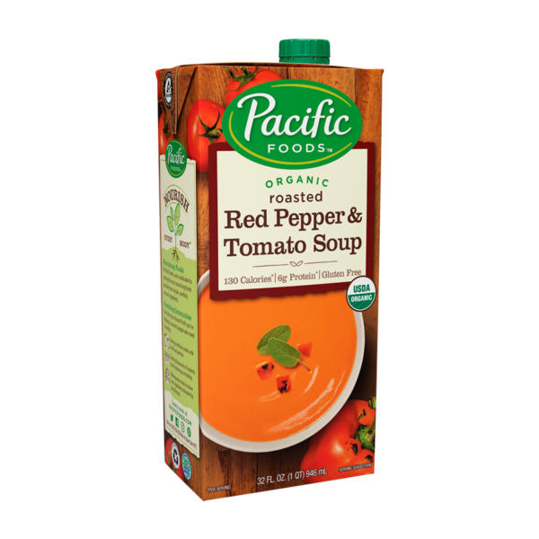 Pacific Foods Soup Roasted Red Pepper Tomato - 8oz - Case Of 12 - The GreenLine Market