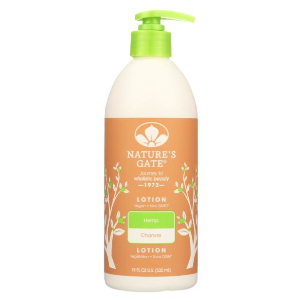 Nature's Gate Hemp Moisturizing Lotion The GreenLine Market