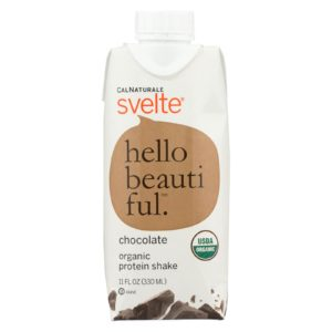 Svelte Organic Protein Shake Drink Chocolate 11oz - Case Of 8 - The GreenLine Market