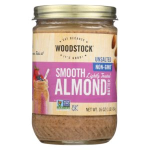 Woodstock Almond Butter Lightly Toasted Unsalted The GreenLine Market