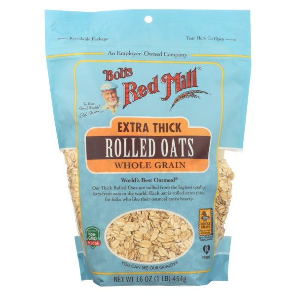 Bob's Red Mill Rolled Oats - Extra Thick - 16oz - Case of 4