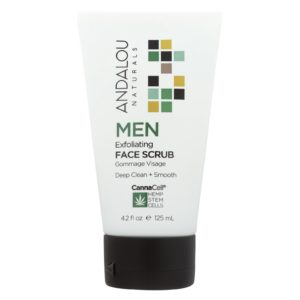 Andalou Natural Men's Face Scrub - Exfoliating - 4.2oz