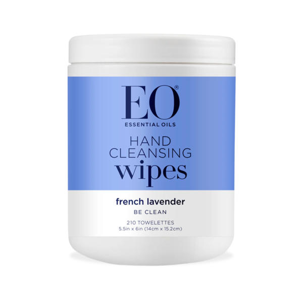 EO Hand Cleansing Wipes French Lavender 210 Ct - The GreenLine Market