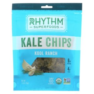 Rhythm Superfoods Organic Kale Chips Kool Ranch 2oz - Case Of 12 - The GreenLine Market