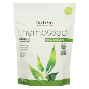 Nutiva Organic Hemp Seeds Raw Shelled - 8 Oz