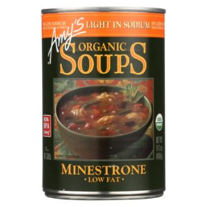 Amy's Organic Minestrone Soup Low Sodium The GreenLine Market