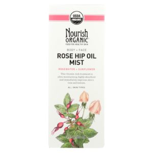 Nourish Organic Body Oil Mist - Rose Hip & Rosewater - 3 Oz