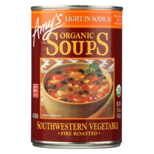 Amy's Organic Soup Fire Roasted Vegetables - 14.3 Oz - Case Of 12 - The GreenLine Market