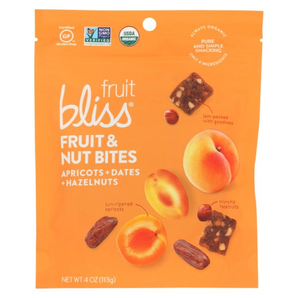 Fruit Bliss Organic Fruit & Nut Bites - Apricot - 4oz - Case Of 6 - The GreenLine Market
