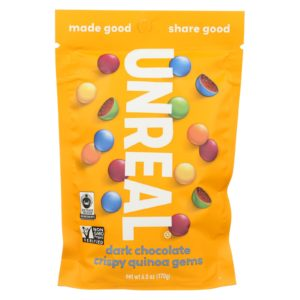 Unreal Crispy Quinoa Dark Chocolate Gems 5oz - Case Of 6