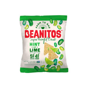 Beanitos White Bean Chips Hint of Lime 1oz - 24 Pack