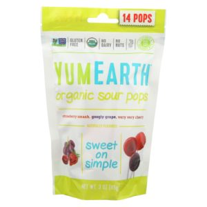 YumEarth Organic Lollipops Super Sour 3 Oz - Case Of 6