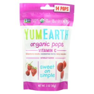 YumEarth Organic Vitamin C Pops 3 Oz - Case Of 6