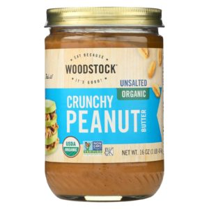 Woodstock Organic Peanut Butter Crunchy Unsalted The GreenLine Market