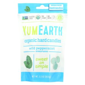 YumEarth Organic Candy Drops Peppermint 3.3 Oz - Case Of 6