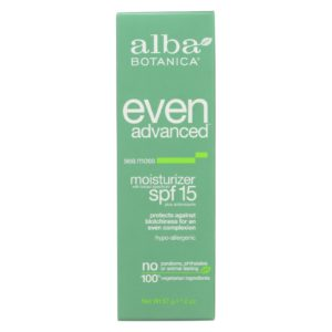 Alba Botanica Face Sunscreen & Moisturizer Sea Moss Spf 15 The GreenLine Market