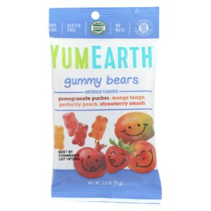 YumEarth Organic Fruit Gummy Bears 2.5 oz - Case Of 12