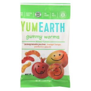 YumEarth Organic Fruit Worms 2.5oz - Case Of 12