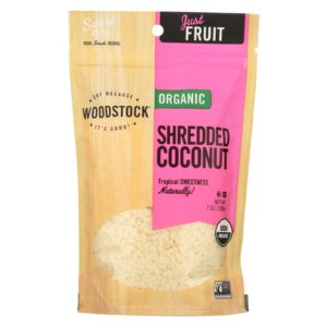 Woodstock Organic Shredded Coconut - 4 oz - Case Of 8