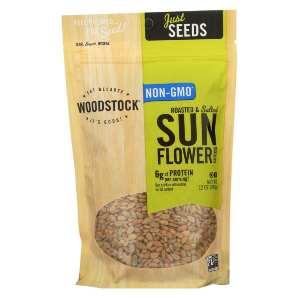 Woodstock Sunflower Seeds Roasted Salted The GreenLine Market